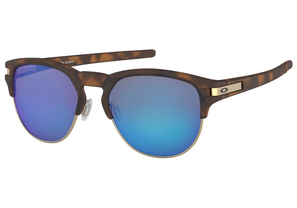 Oakley Latch Key M Sunglasses Matte Brown Tortoise/Sapphire Iridium ...